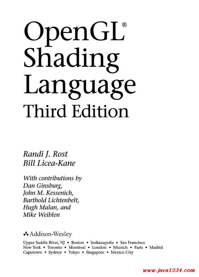 opengl shading language 3rd edition pdf