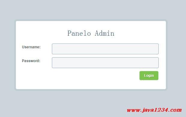 登录和后台管理模版 PDF 下载