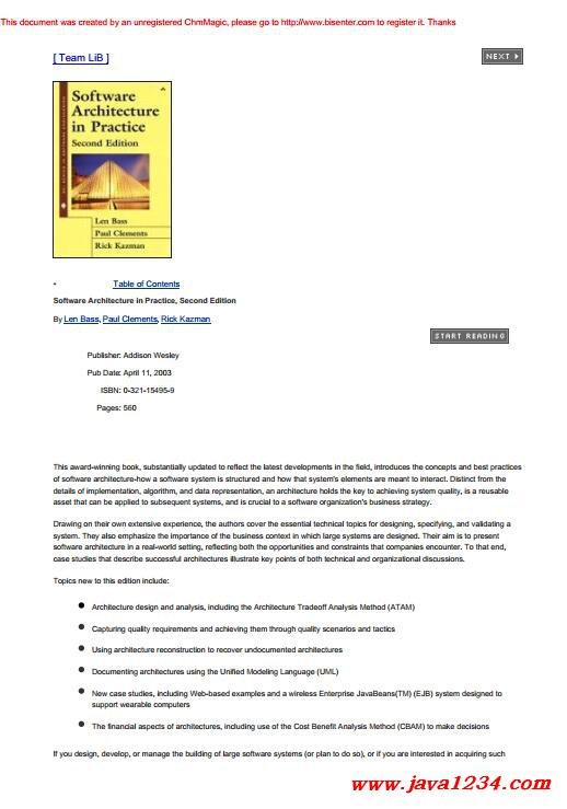 Software Architecture in Practice PDF 下载_Java知识分享网