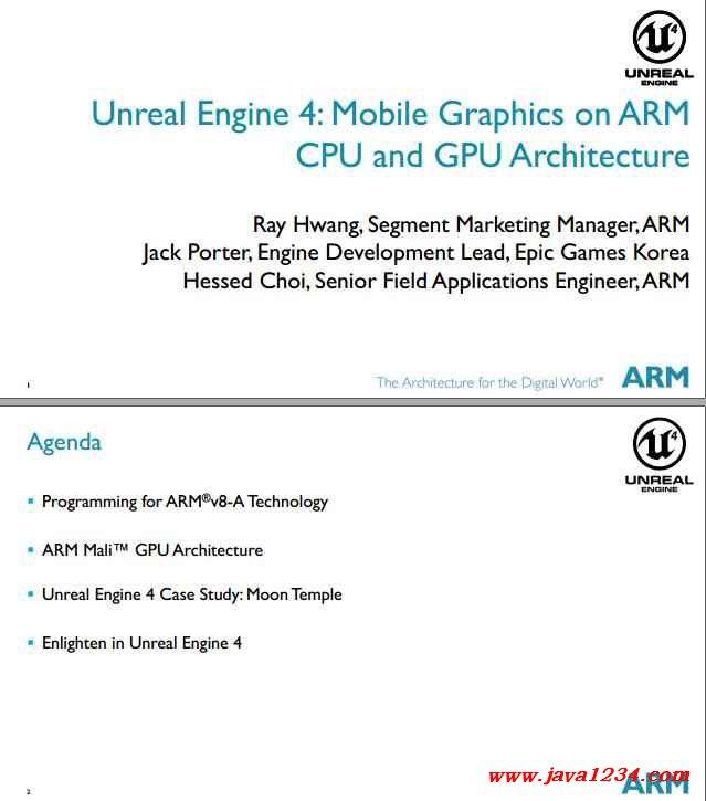 Unreal Engine 4 Mobile Graphics on ARM CPU and GPU